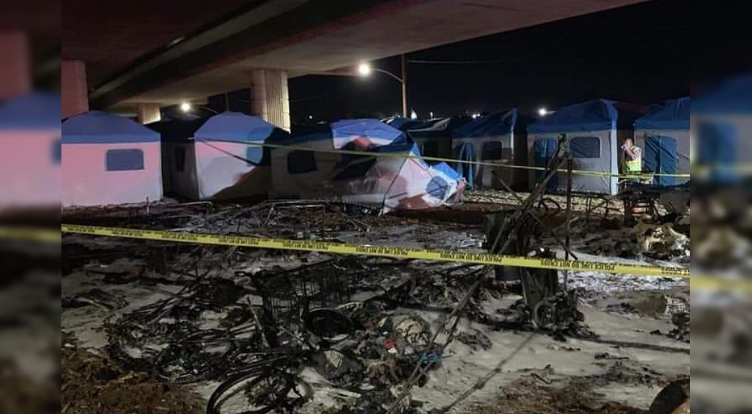 Modesto New Homeless Tents destroyed in an early morning ...